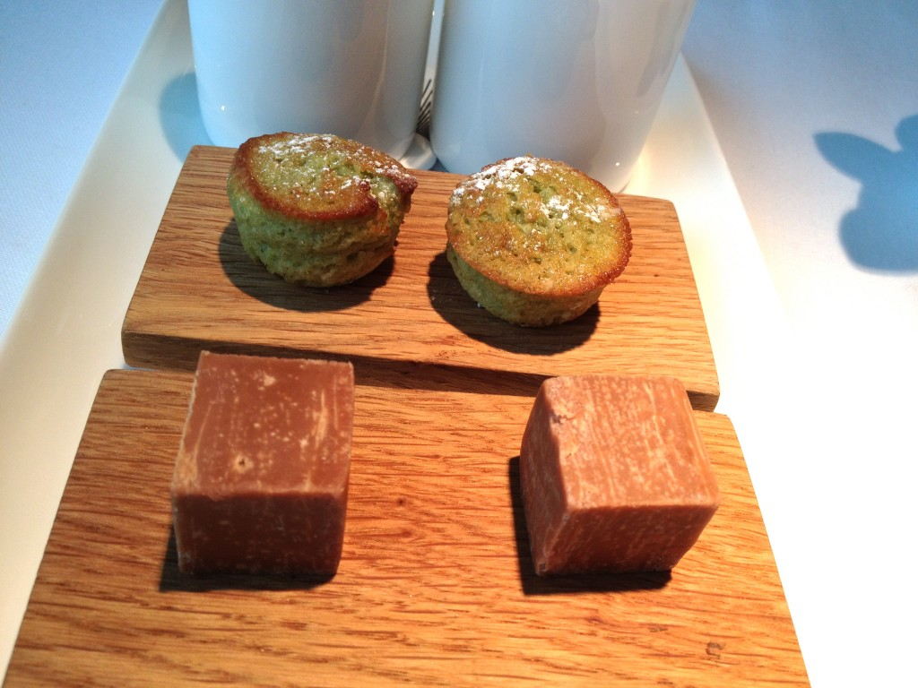 Pistachio Madeleines and Earl Grey Fudge