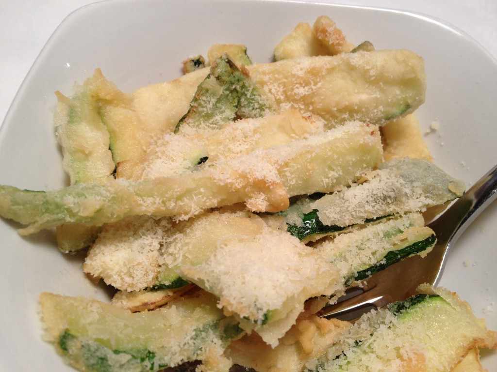 Fried Courgette and Parmesan