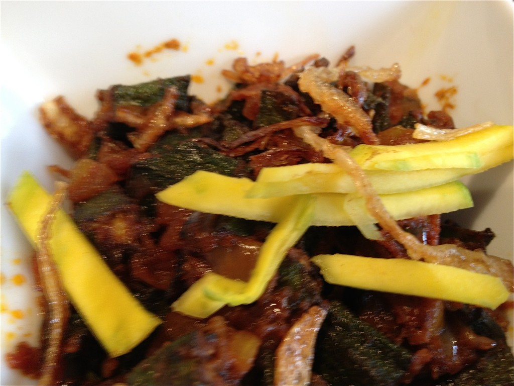 Stir Fry Okra with raw mango