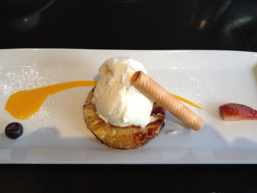 Tandoori Pineapple with Coconut Sorbet