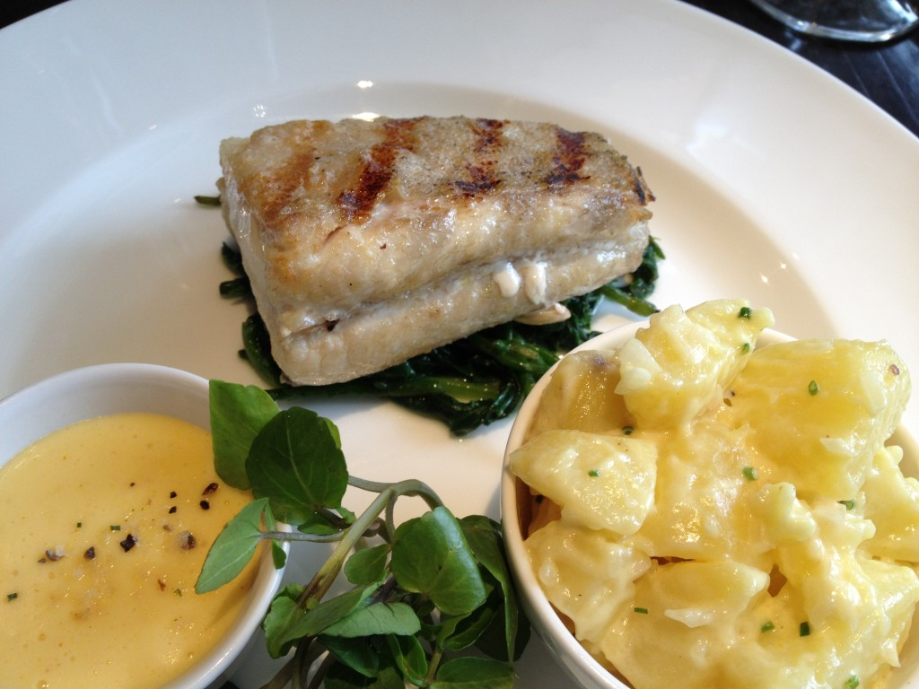 Grilled Troncon of Scottish plaice