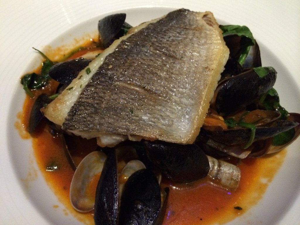 Brigade Bar & Bistro seabass and tomato stew