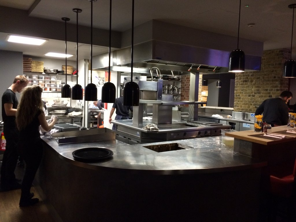 Brigade Bar and Restaurant kitchen