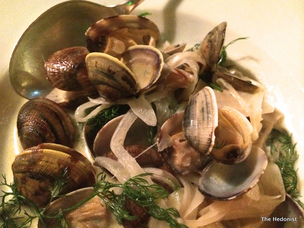 Polpetto Clams, wild fennel, creme fraiche