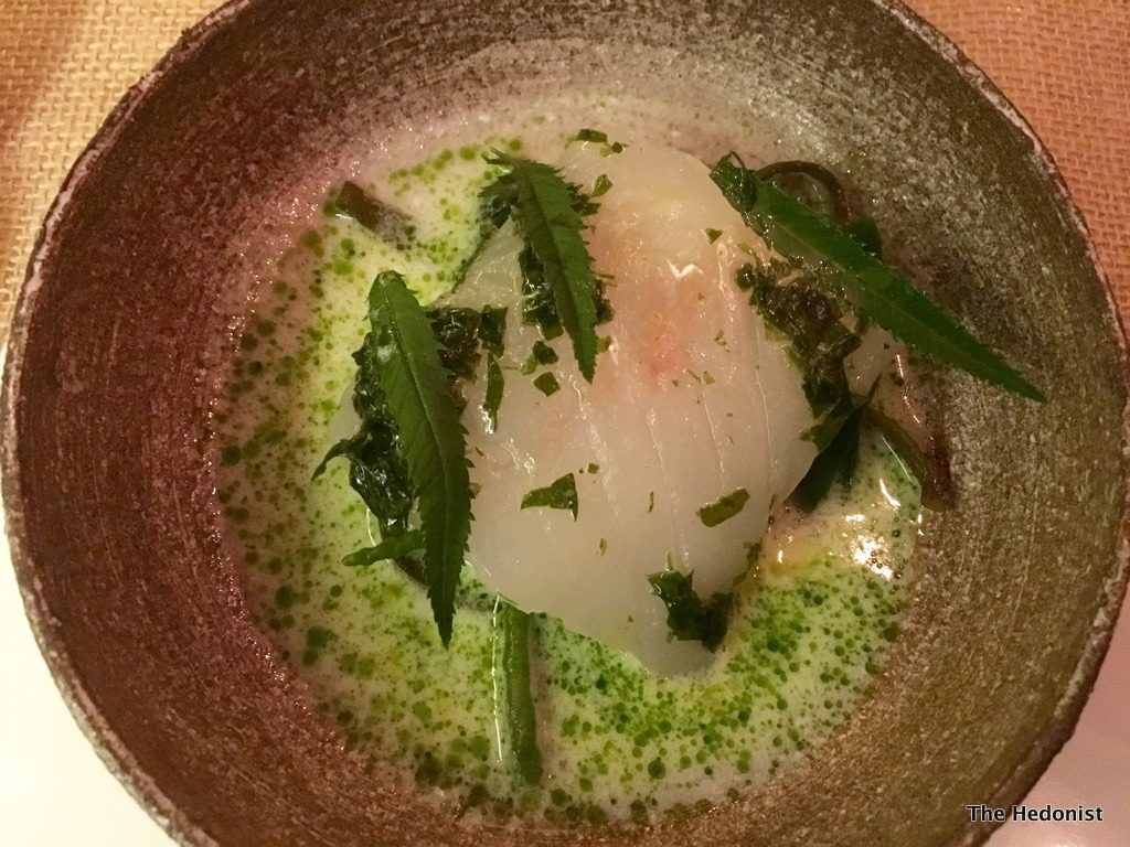 fodder Cornish cod in seaweed butter